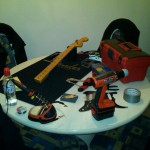 The guitar surgeon is scrubbing in!! =) ~NP