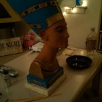 Nefertiti getting a makeover after a broken neck. Ouch! Thanx Misi!